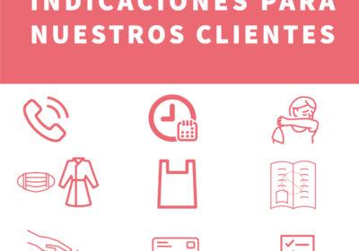 Indicaciones para nuestros clientes